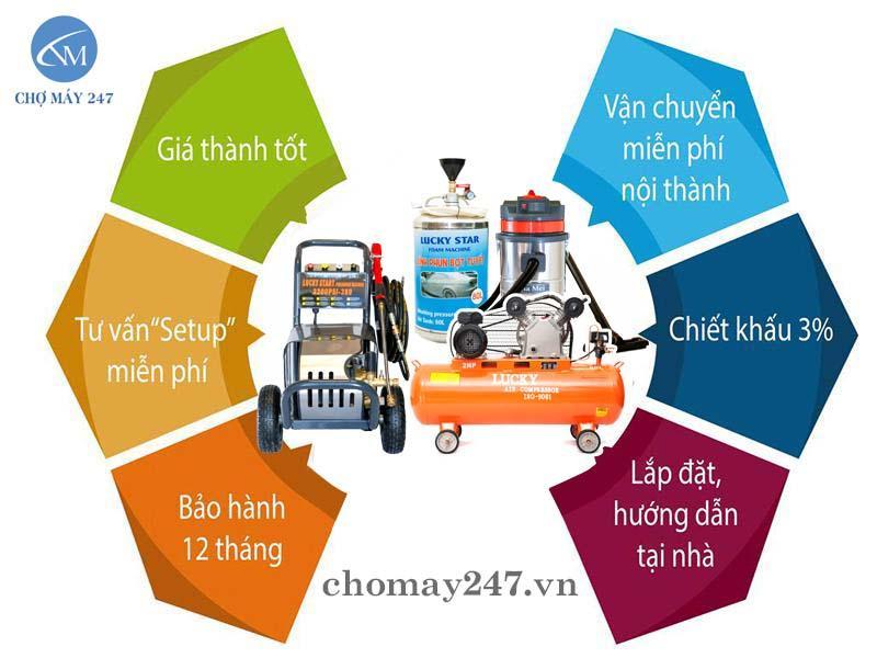Tại sao nên mua bộ thiết bị rửa xe ô tô lại Điện máy Nhật Minh