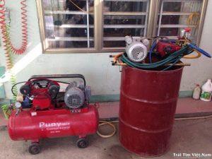 bộ thiết bị máy rửa xe máy