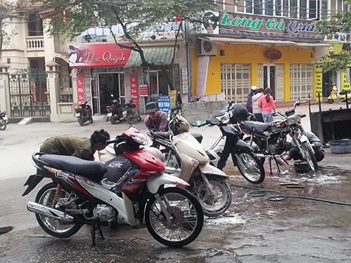 bộ thiết bị rửa xe máy - ô tô