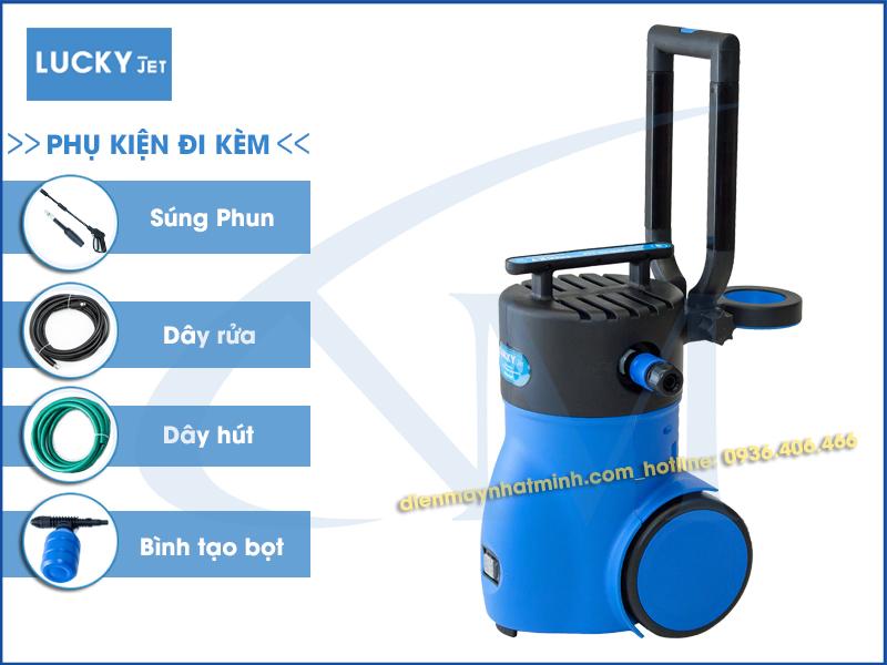 Khuyến mại phụ kiện máy rửa xe mini Lucky Jet APW-VM-60P