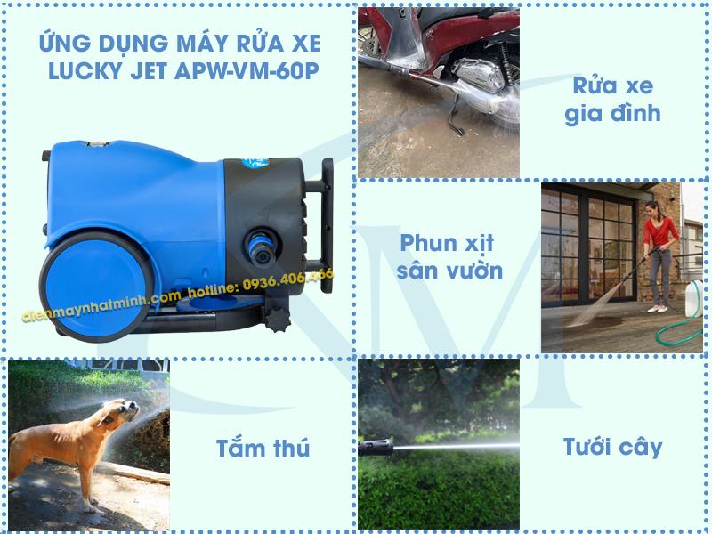 Công dụng máy rửa xe mini Lucky Jet APW-VM-60P