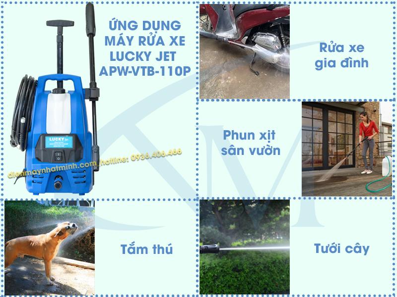 Công dụng máy rửa xe mini gia đình Lucky Jet 110P