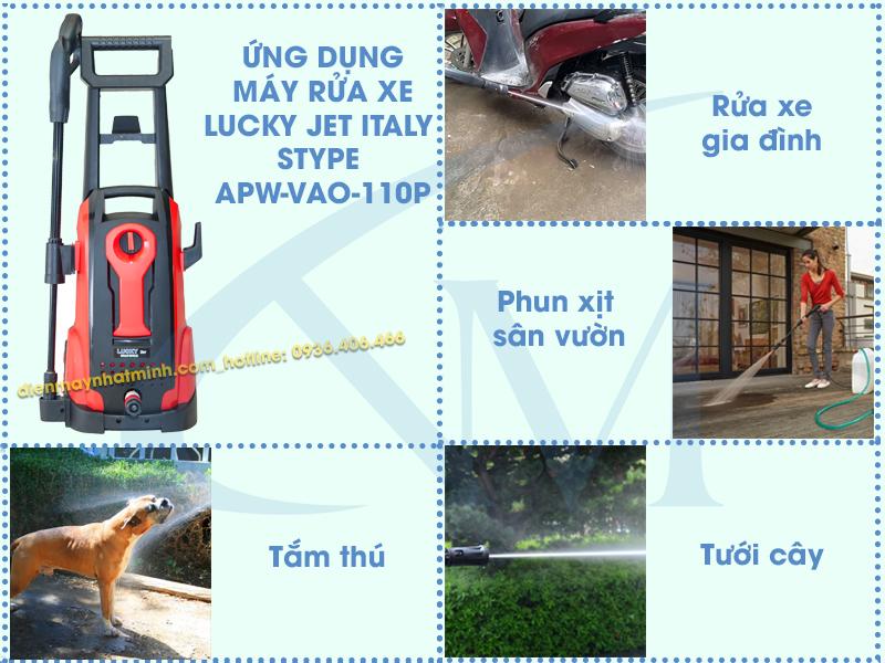 Ứng dụng của máy rửa xe mini Lucky Jet ABW-VAO-110P