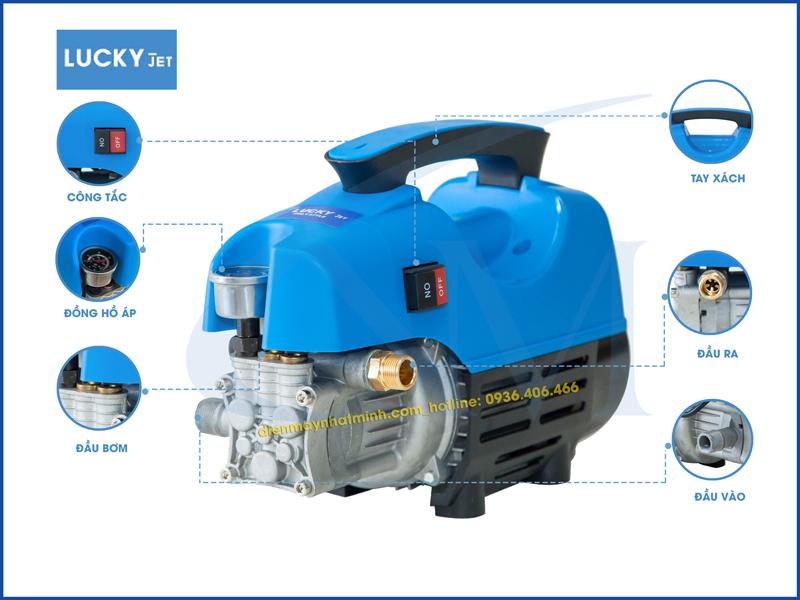 Chi tiết bộ phận máy rửa xe mini Lucky Jet QL-1400