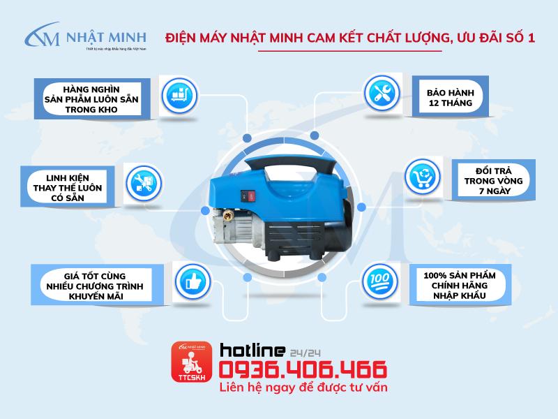 Điểm bán máy rửa xe mini Lucky Jet QL-1400 uy tín