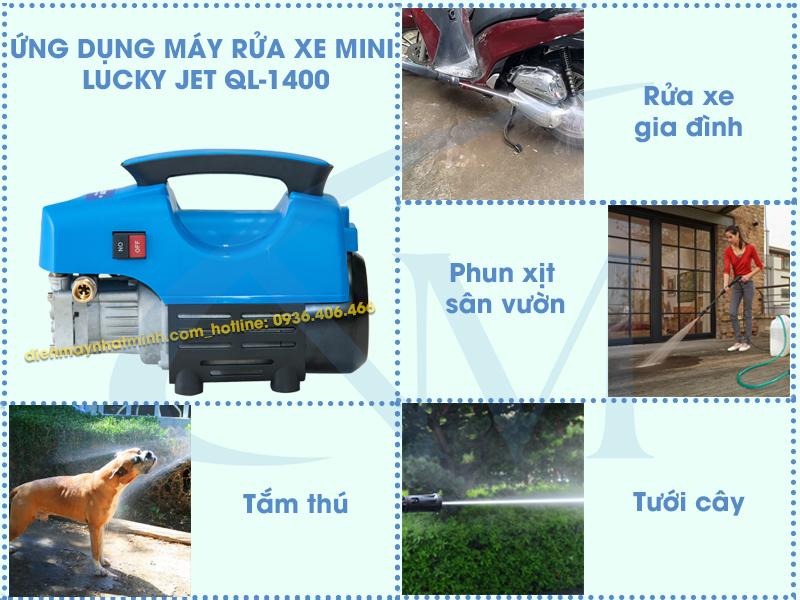 Công dụng máy rửa xe mini Lucky Jet QL-1400