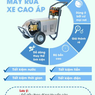 Ưu điểm của máy rửa xe cao áp