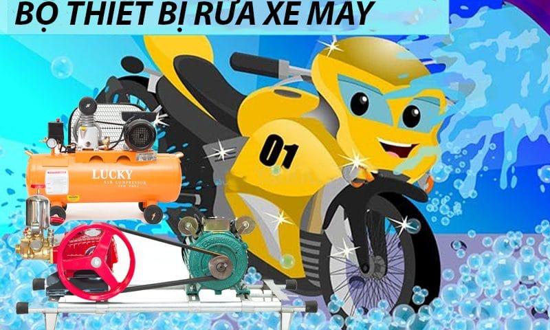 Bộ thiết bị rửa xe máy chuyên nghiệp giá rẻ