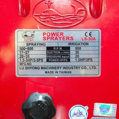 Thông số kỹ thuật đầu bơm rửa xe Đài Loan LS30