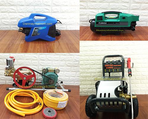 Các loại máy rửa xe ô tô xe máy tiêu biểu
