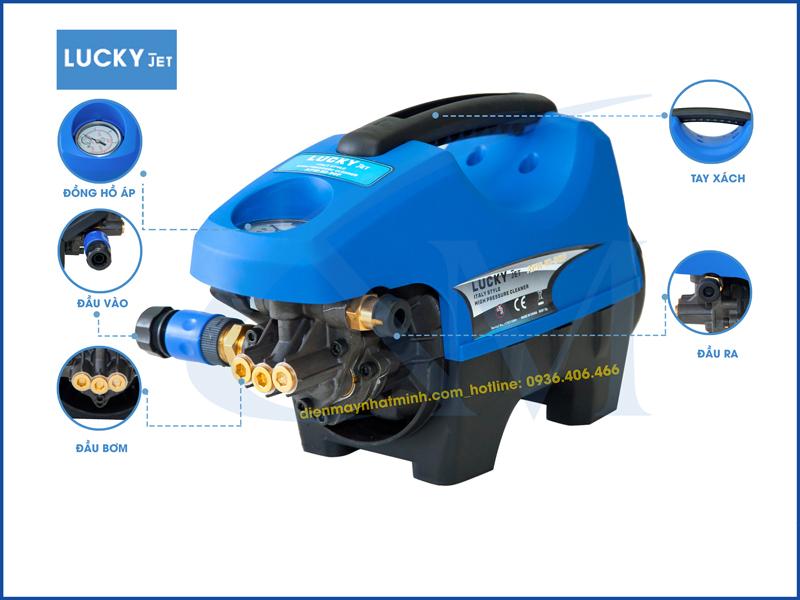 Chi tiết bộ phận máy rửa xe mini Lucky Jet APW-HI-90P