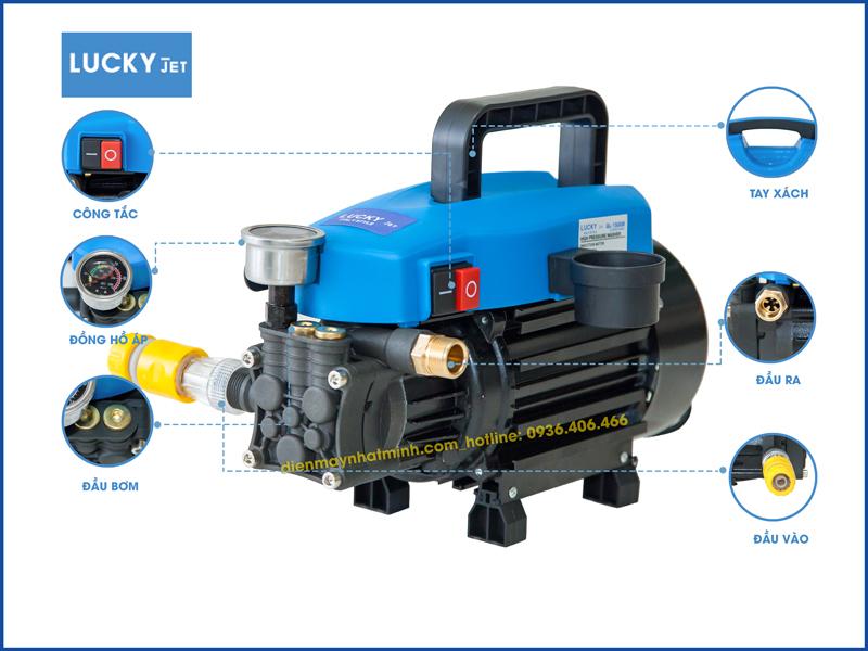 Chi tiết bộ phận máy rửa xe mini Lucky Jet QL-1500B