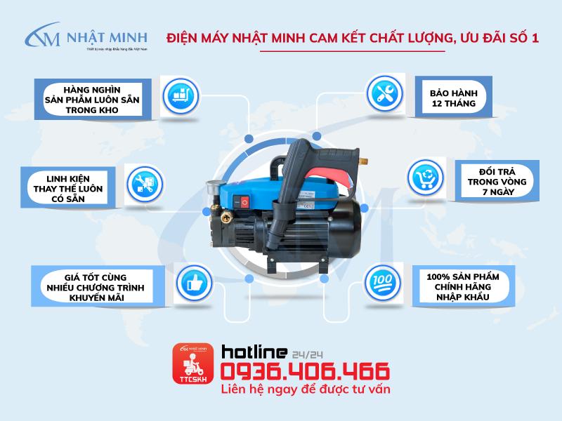 Nơi bán máy rửa xe mini Lucky Jet QL-1500B giá rẻ