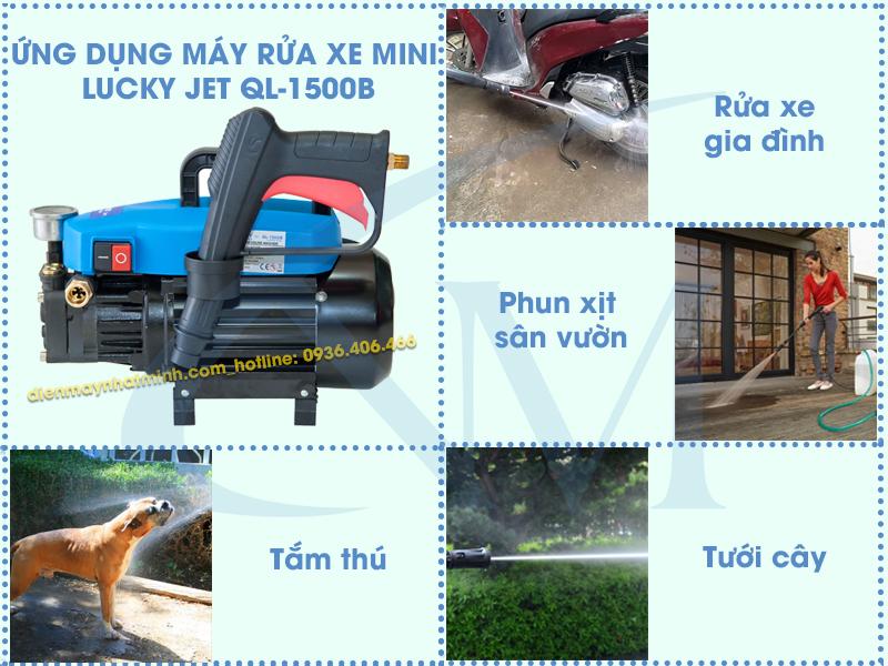 Công dụng máy rửa xe mini Lucky Jet QL-1500B