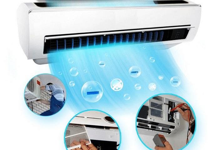 Máy bơm áp lực vệ sinh điều hòa, máy lạnh chuyên dụng cho tiệm