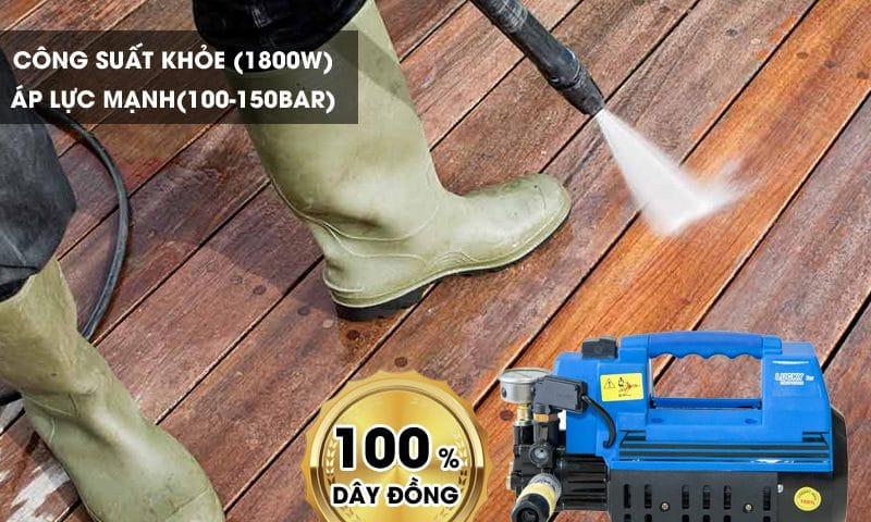 Máy rửa xe gia đinh 1800W công suất phổ biến hiện nay