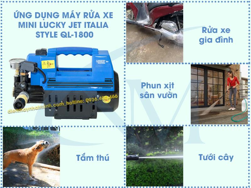 Công dụng máy rửa mini Lucky Jet QL-1800