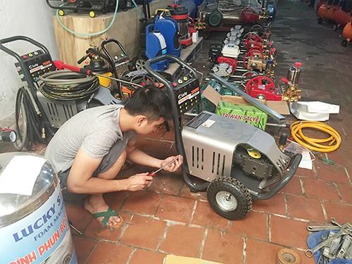 Mua máy rửa xe cũ tại các địa chỉ uy tín tránh chất lượng kém