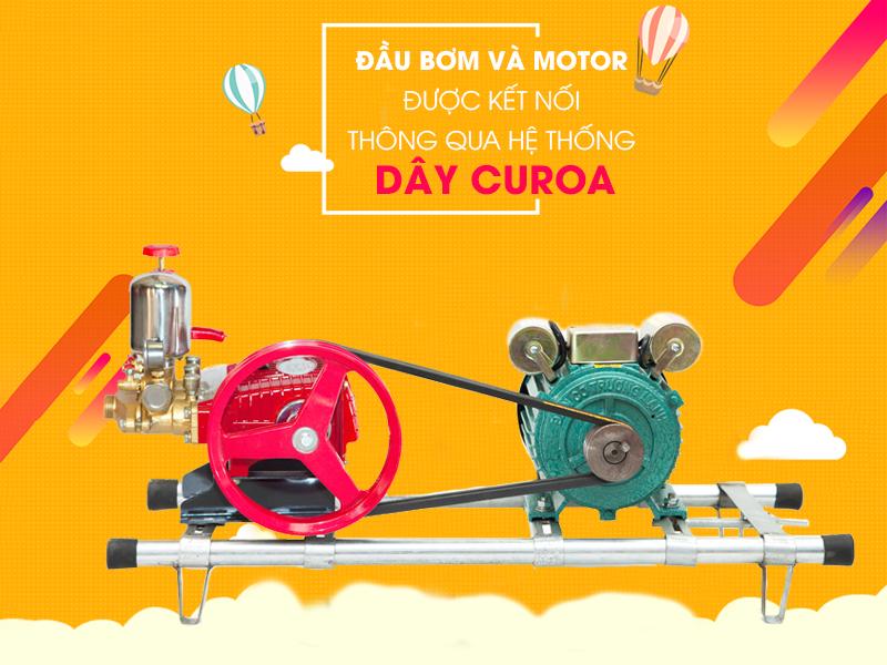 Máy rửa xe dây đai cấu tạo đơn giản, giá rẻ, dễ sử dụng