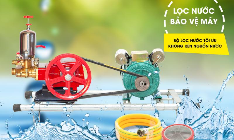 Máy rửa xe dây đai với bộ lọc nước bảo vệ động cơ