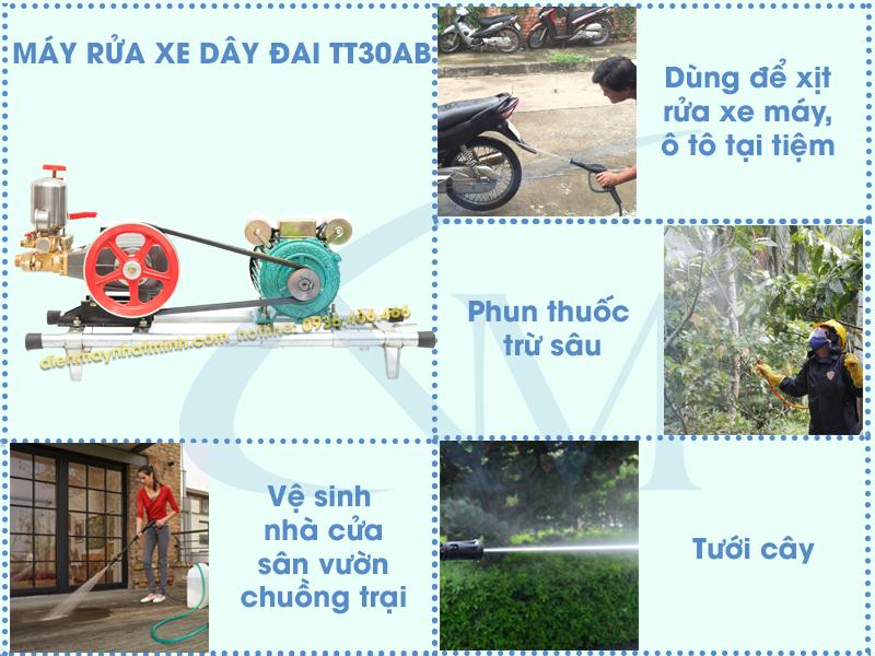 Ứng dụng thực tế của máy rửa xe TT30AB