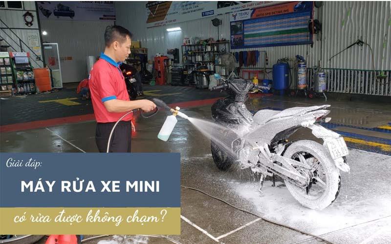 Máy rửa xe gia đình rửa xe không chạm