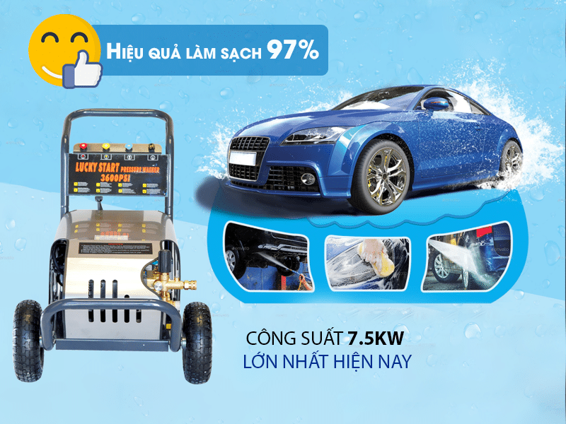 Giá mát rửa xe ô tô 3 pha chất lượng cao