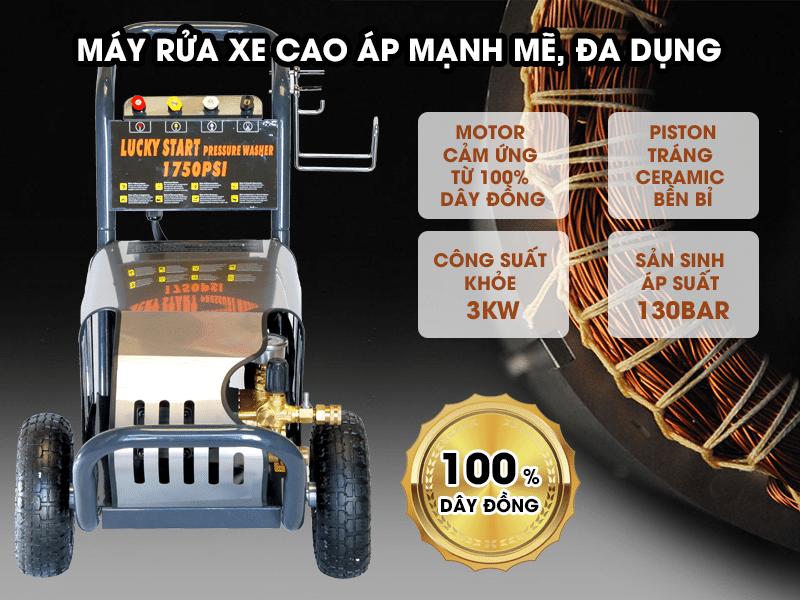 Máy bơm rửa xe cao áp độ bền cao