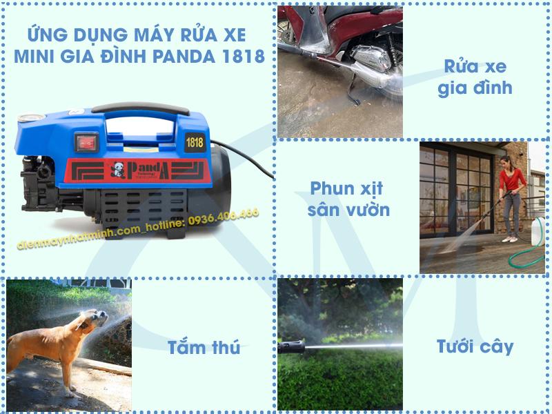 Ứng dụng thực tiễn của máy rửa xe mini Panda 1818