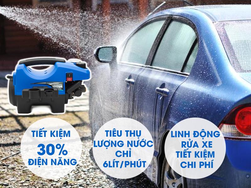 Máy rửa xe mini tính cơ động cao, tiết kiệm chi phí
