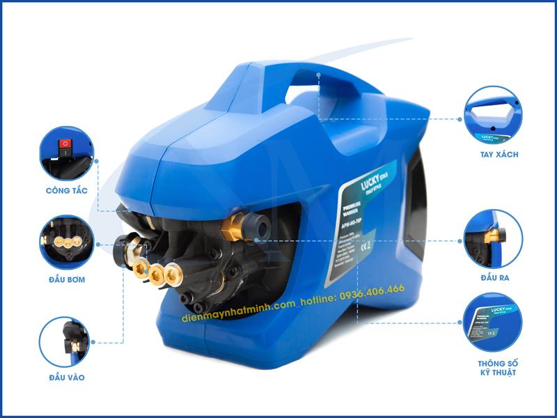 Các chi tiết máy rửa xe mini LuckyStar APW-HO-70P