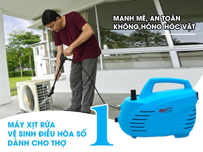 Máy rửa xe mini Puny vệ sinh điều hòa số 1 hiện nay