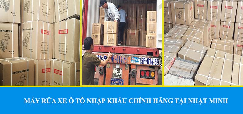 Máy rửa xe cao áp nhập khẩu chính hãng - Áp lực cao, ổn định, chất lượng hàng đầu thị trường