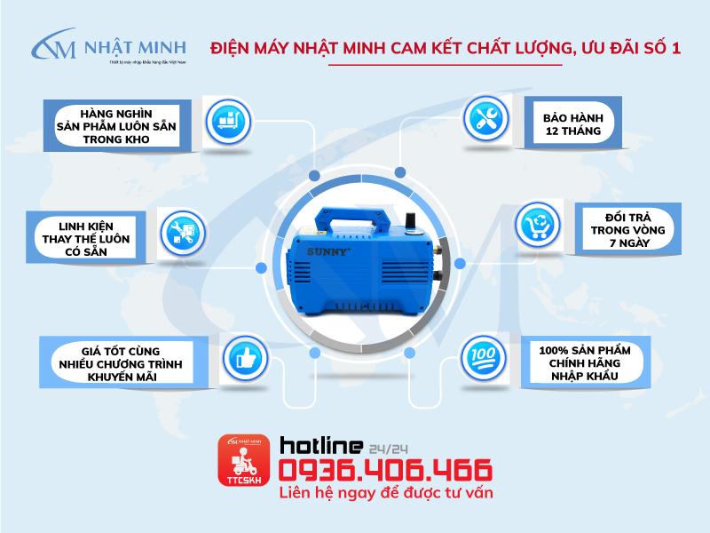 Cam kết chính hãng từ điện máy Nhật Minh
