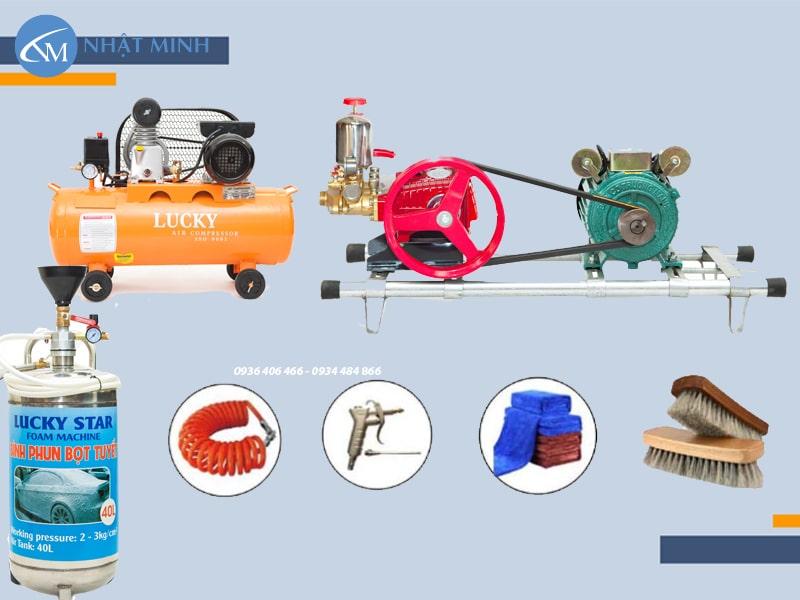 Bộ thiết bị rửa xe máy tại Chợ máy 247 sử dụng những sản phẩm tốt nhất