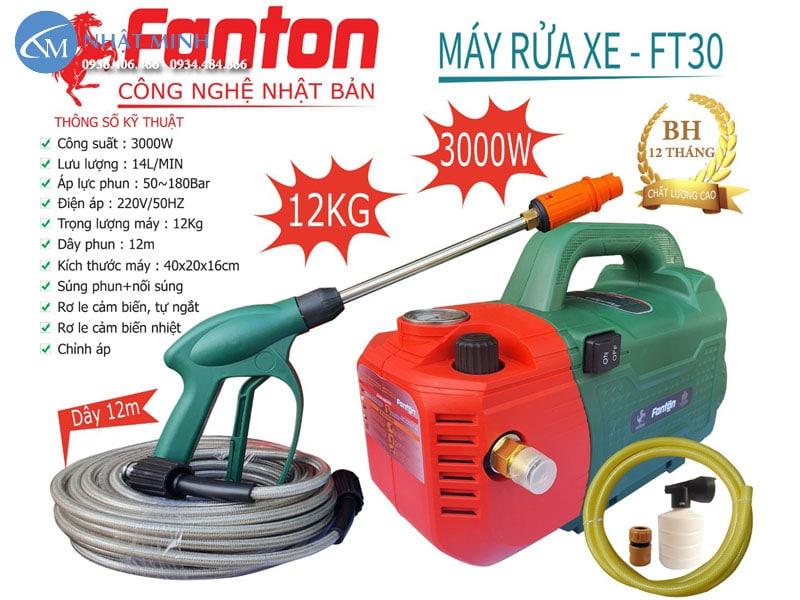 Máy rửa xe gia đình công suất lớn Fanton FT30 cao cấp