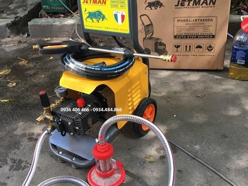 Trọn bộ đầu đủ phụ kiện đi kèm của máy rửa xe cao áp 2,2kw Jetman Jet2200A
