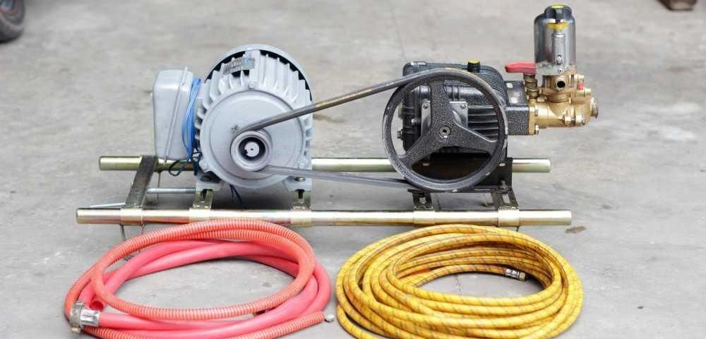 Trọn bộ máy rửa xe dây đai giá rẻ đầy đủ phụ kiện