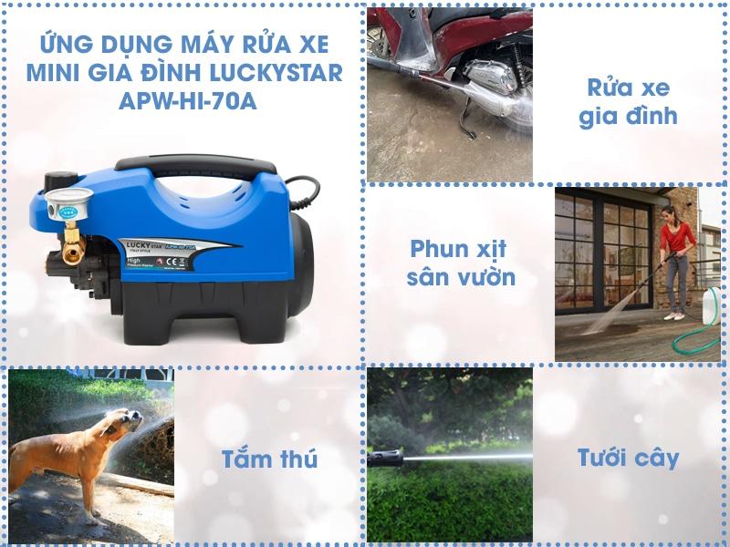 Công dụng đa dạng của máy rửa xe mini gia đình