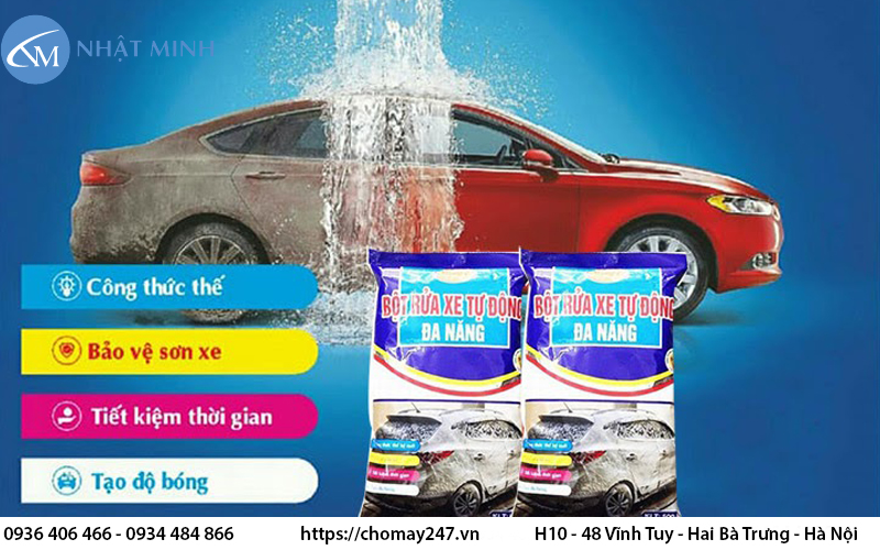 Đặc điểm khi chọn hóa chất rửa xe chuyên dụng